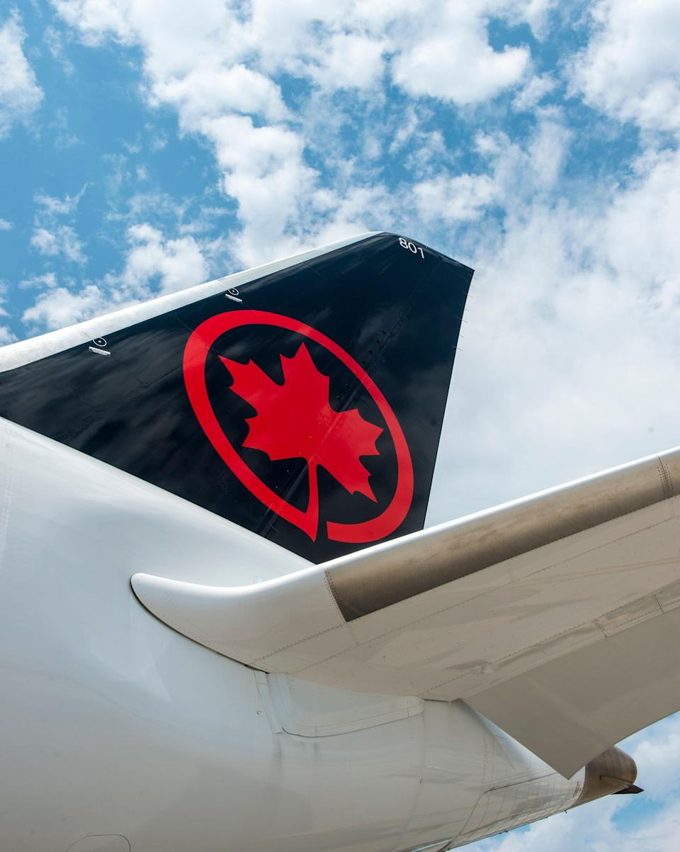 A plane flying for Air Canada, the country's national airline.