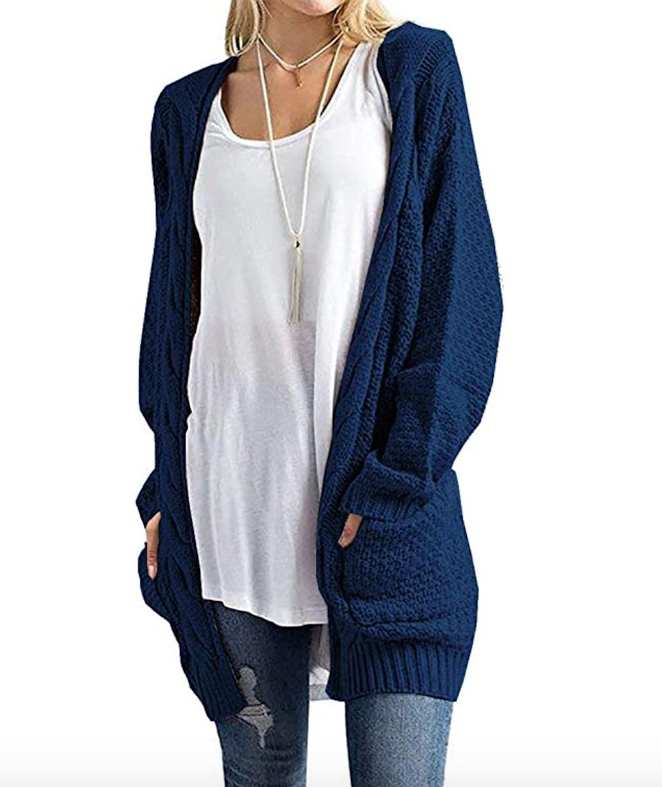 "<a href=""https://amzn.to/3ctruZV"" target=""_blank"" rel=""noopener noreferrer"">This long cardigan</a> is available in sizes S to XL in 23 colors. Find it for $37 on <a href=""https://amzn.to/3ctruZV"" target=""_blank"" rel=""noopener noreferrer"">Amazon</a>."