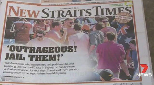 Local media were outraged by the mens' actions. Source: 7News