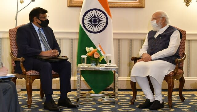 India is an attractive destination for manufacturing drones and a dedicated drone hub can be created in India to support the entire ecosystem of drones, said chief executive of General Atomics Vivek Lall after meeting with Prime Minister Narendra Modi in Washington DC. Image Courtesy: @narendramodi/Twitter