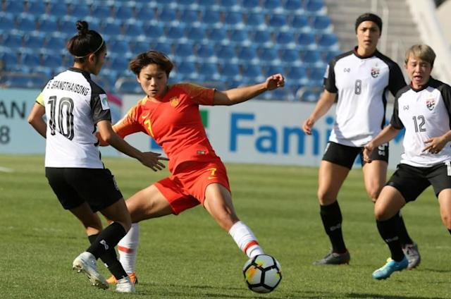 Chinese star Wang Shuang was on lockdown for more than two months in her home city of Wuhan (AFP Photo/Khalil MAZRAAWI)