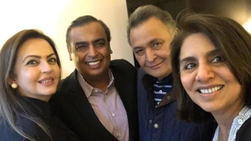Mukesh Ambani, Nita Ambani shower love on Rishi Kapoor