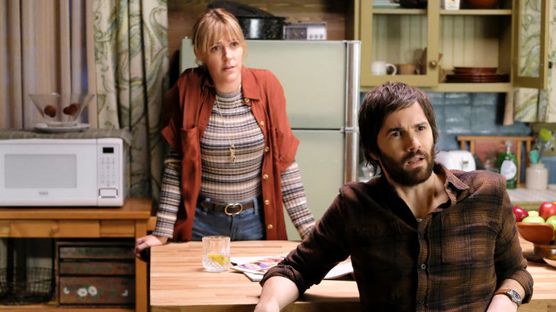 Jim Sturgess and Abby Miller in 'Home Before Dark'. (Credit: Apple)