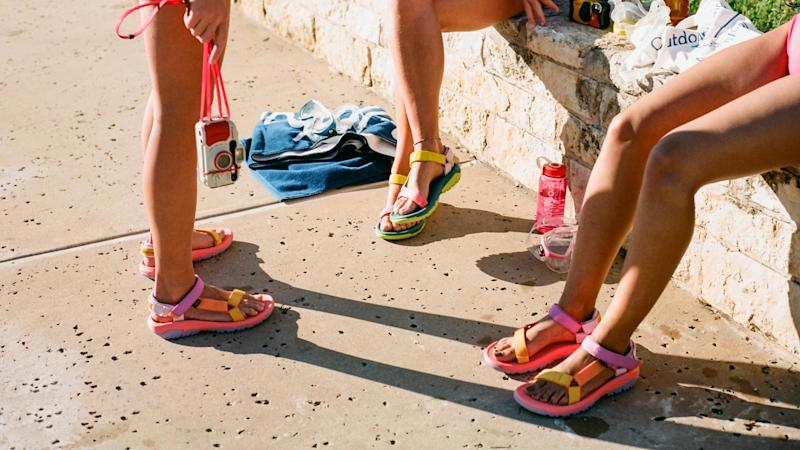 Outdoor Voices and Teva's sandals are finally here. Find out how you can grab a pair of the popular shoes here.