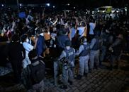 Residents protest after a deadly police operation against alleged drug traffickers at the Jacarezinho favela in Rio de Janeiro state