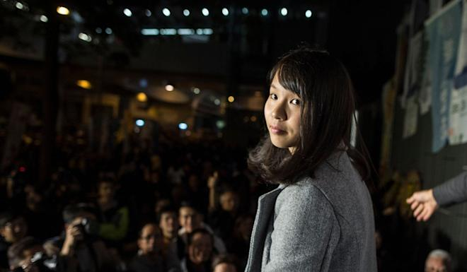 Pro-democracy activist Agnes Chow was banned from running in a Legco by-election in 2017. Photo: AFP