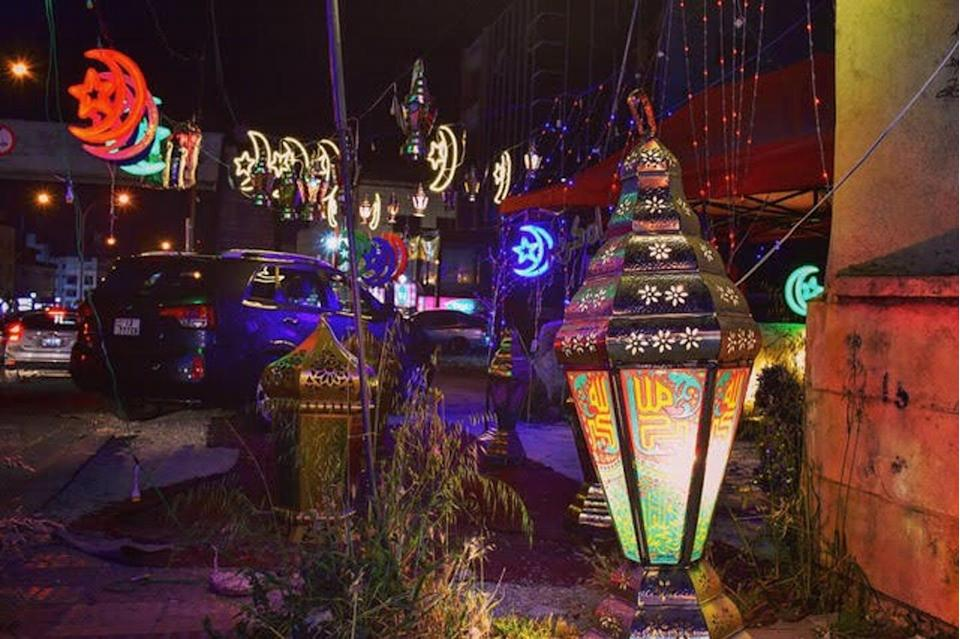 """<span class=""""caption"""">Fanous, the colorful lanterns of Ramadan, light up the streets of Amman, Jordan, throughout the holy month of fasting.</span> <span class=""""attribution""""><span class=""""source"""">Ken Chitwood</span>, <a class=""""link rapid-noclick-resp"""" href=""""http://creativecommons.org/licenses/by/4.0/"""" rel=""""nofollow noopener"""" target=""""_blank"""" data-ylk=""""slk:CC BY"""">CC BY</a></span>"""