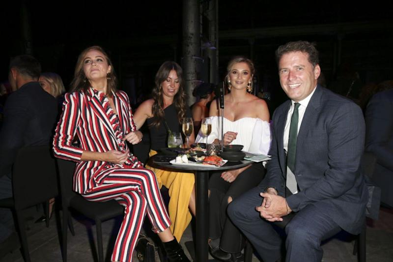 Karl Stefanovic and Jasmine Yarbrough at the 2018 Autumn/Winter fashion launch in Sydney on the 7th February. Jasmine showed off her ring Source: Media-Mode