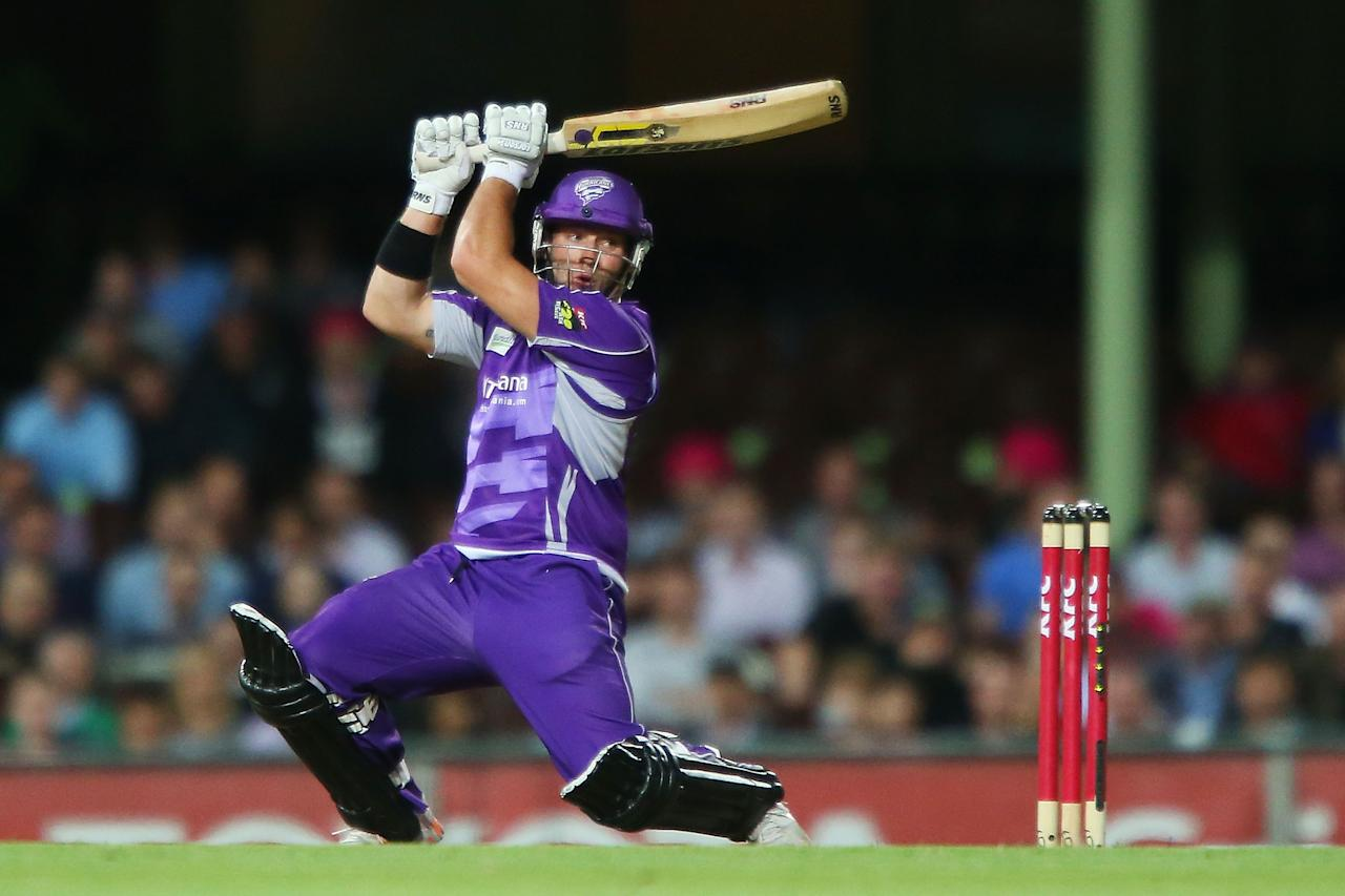 SYDNEY, AUSTRALIA - DECEMBER 26:  Travis Birt of the Hurricanes bats during the Big Bash League match between the Sydney Sixers and the Hobart Hurricanes at SCG on December 26, 2012 in Sydney, Australia.  (Photo by Brendon Thorne/Getty Images)