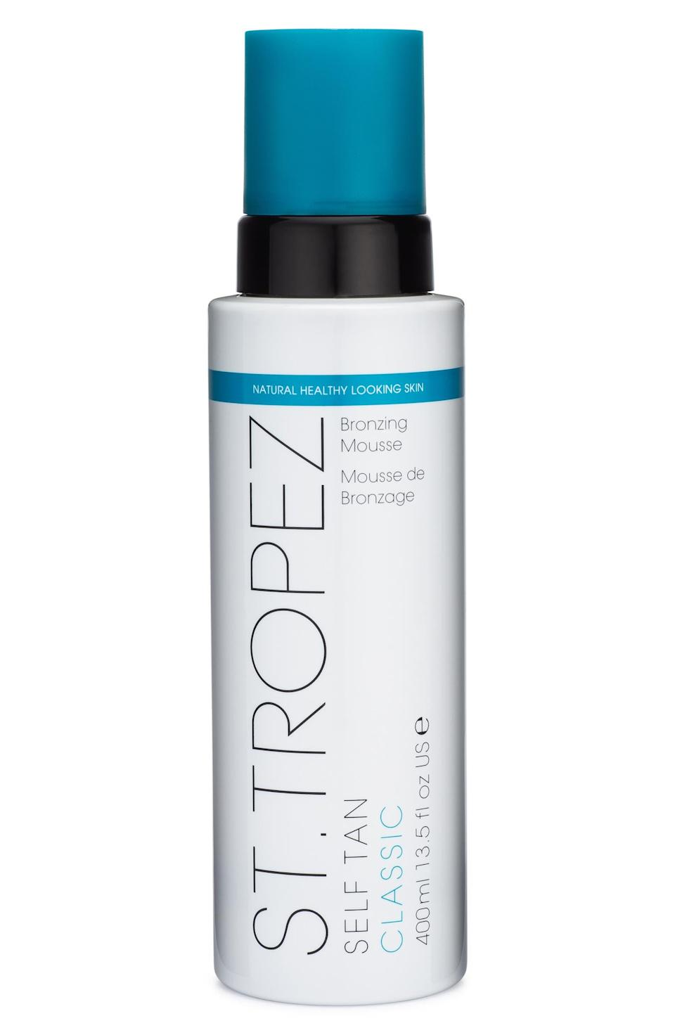 """<h2>St. Tropez Jumbo Self Tan Classic Bronzing Mousse 43% Off<br></h2><br>""""I have reached an age where I am no longer willing to risk wrinkles for a tan — and that's where this value-priced St. Tropez comes into play. I've been using this brand's self-tanner since my school days and it's still my trusted favorite for a streak-free, subtle glow that many mistake for the real deal."""" <em>– Elizabeth Buxton, Deputy Director</em><br><br><strong><em>Next Best Deal:</em></strong><em> Since St. Tropez Jumpo Self-Tan Classic Bronzing Mousse is sold out, try this still-in-stock <a href=""""https://www.nordstrom.com/s/coola-suncare-full-spectrum-360-sunscreen-set-76-value/5578205"""" rel=""""nofollow noopener"""" target=""""_blank"""" data-ylk=""""slk:COOLA Suncare Full Spectrum 360° Sunscreen Set"""" class=""""link rapid-noclick-resp"""">COOLA Suncare Full Spectrum 360° Sunscreen Set</a> instead!</em> <br><br><em>Shop <strong><a href=""""https://www.nordstrom.com/brands/st-tropez--6855"""" rel=""""nofollow noopener"""" target=""""_blank"""" data-ylk=""""slk:St. Tropez"""" class=""""link rapid-noclick-resp"""">St. Tropez</a></strong></em><br><br><strong>St. Tropez</strong> Jumbo Self Tan Classic Bronzing Mousse, $, available at <a href=""""https://go.skimresources.com/?id=30283X879131&url=https%3A%2F%2Fwww.nordstrom.com%2Fs%2Fst-tropez-jumbo-self-tan-classic-bronzing-mousse-80-value%2F5271918"""" rel=""""nofollow noopener"""" target=""""_blank"""" data-ylk=""""slk:Nordstrom"""" class=""""link rapid-noclick-resp"""">Nordstrom</a>"""