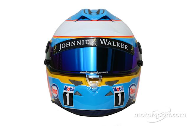 "Casco de Fernando Alonso en 2015 <span class=""copyright"">XPB Images</span>"
