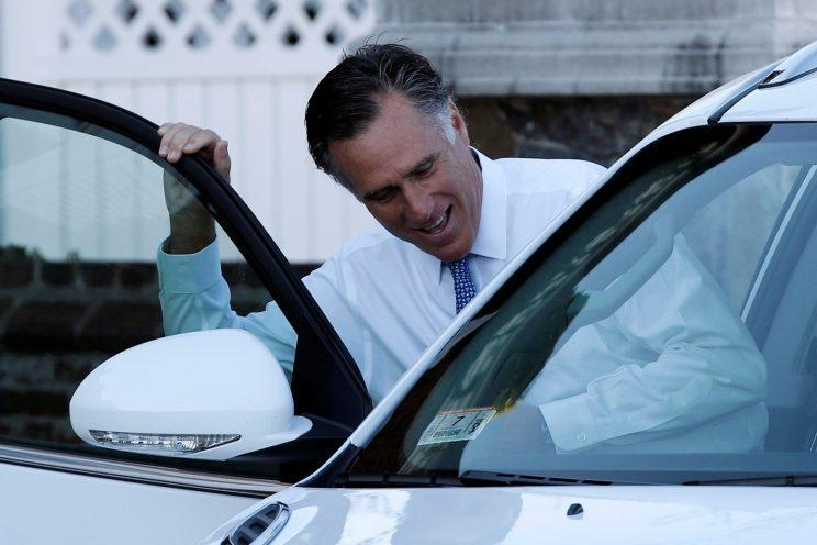 Mitt Romney gets into his car after meeting with U.S. President-elect Donald Trump in Bedminster, N.J. (Photo: Mike Segar/Reuters)