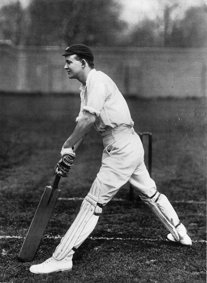 circa 1905:  Cricketer Pelham Francis Warner (1873 - 1963), of Oxford University and Middlesex.  Original Publication: From 'The Book of Cricket' by C B Fry.  (Photo by Hulton Archive/Getty Images)