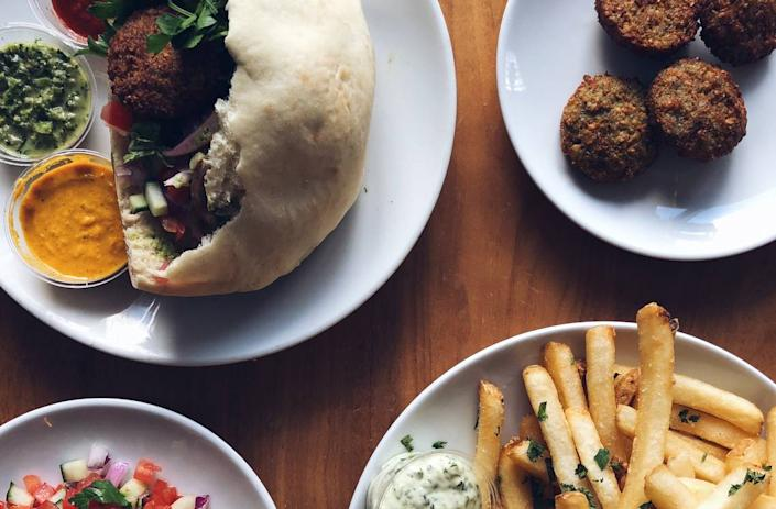 Falafel street food pop up at Zak the Baker