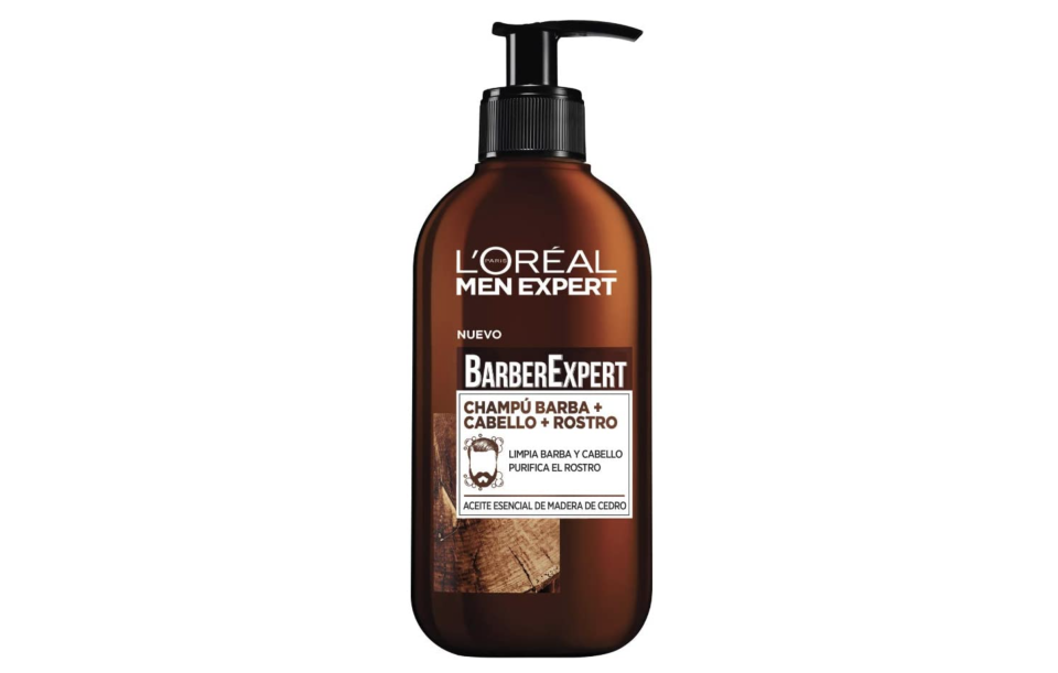 Men Expert Shampoo Barba, Rostro y Cabello, 200 ml, Paquete de 2. Foto: amazon.com.mx