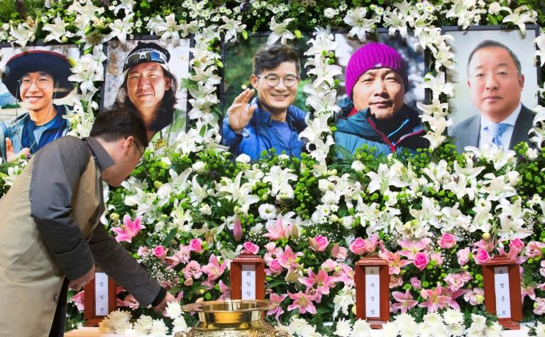 The five South Korean climbers will be laid to rest in a joint funeral on Friday