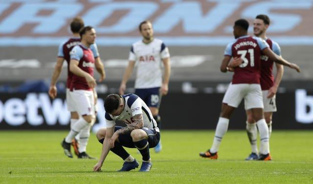 Tottenham's defeat at West Ham was their fifth in six Premier League games