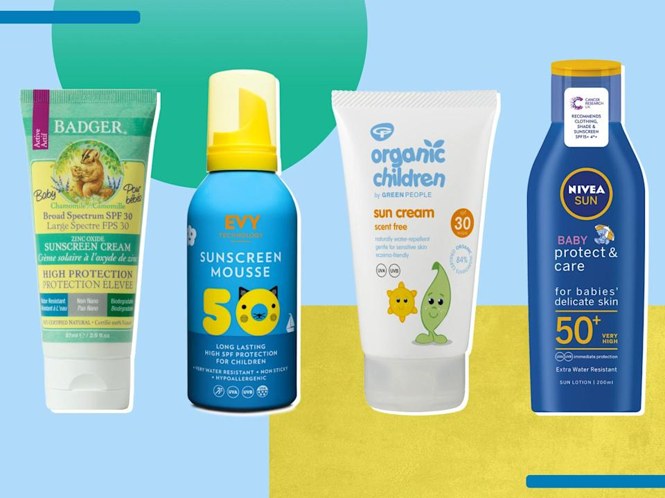 Each formula is water-resistant, and offers protection with a minimum SPF30 (iStock/The Independent )
