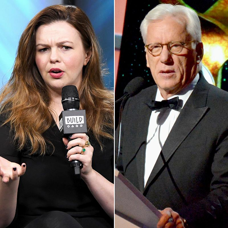 Amber Tamblyn Fires Back at James Woods For Denying He Hit on Her: 'Calling Me Liar?'