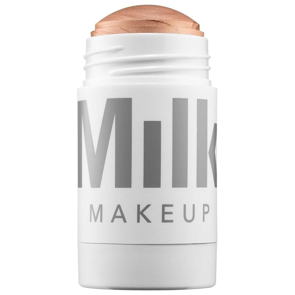 <p>The <span>Milk Makeup Highlighter in Lit</span> ($28) will give you that glow from within look!</p>