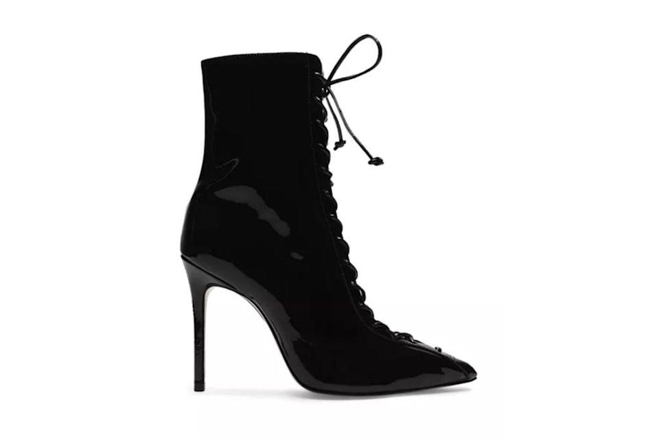 Schutz, Anaiya Lace Up High Heel Bootie, black booties