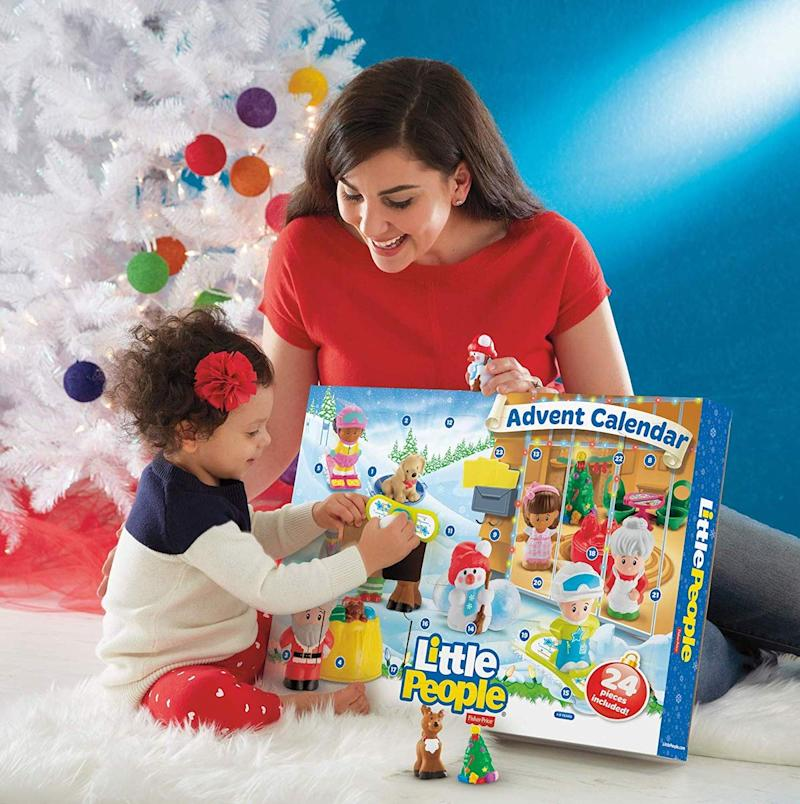 Fisher-Price Little People are the theme of this Avdent calendar that's perfect for toddlers. (Photo: Amazon.com)