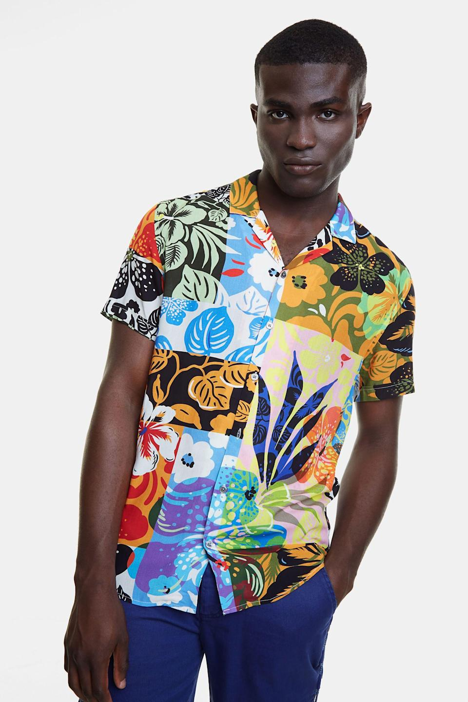 """<p><strong>Desigual</strong></p><p>desigual.com</p><p><strong>$115.95</strong></p><p><a href=""""https://go.redirectingat.com?id=74968X1596630&url=https%3A%2F%2Fwww.desigual.com%2Fen_US%2F20SMCW215054S.html&sref=https%3A%2F%2Fwww.seventeen.com%2Flife%2Ffriends-family%2Fg27570560%2Fgifts-for-dad%2F"""" rel=""""nofollow noopener"""" target=""""_blank"""" data-ylk=""""slk:Shop Now"""" class=""""link rapid-noclick-resp"""">Shop Now</a></p><p>Up his """"dad shirt"""" game with a trendy short sleeve button up. The artsy floral print will make even is oldest pair of <a href=""""https://go.redirectingat.com?id=74968X1596630&url=https%3A%2F%2Fwww.birkenstock.com%2Fus&sref=https%3A%2F%2Fwww.seventeen.com%2Flife%2Ffriends-family%2Fg27570560%2Fgifts-for-dad%2F"""" rel=""""nofollow noopener"""" target=""""_blank"""" data-ylk=""""slk:Birkenstocks"""" class=""""link rapid-noclick-resp"""">Birkenstocks</a> look cool.</p>"""