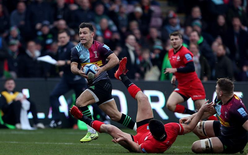 Danny Care scored the first try of the match with a creative, clockwork-like lineout move - PA