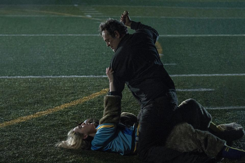 """A teen girl (Kathryn Newton) and a serial killer (Vince Vaughn) swap bodies in the horror comedy """"Freaky."""""""