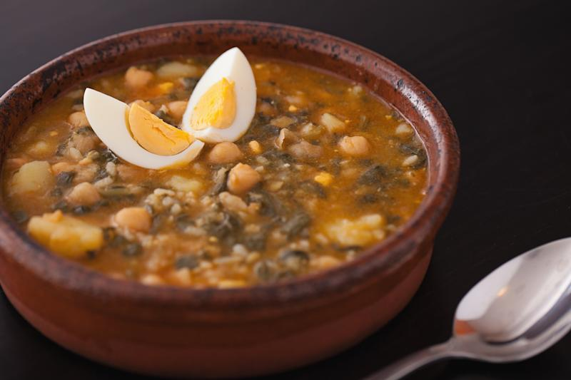Spinach Potage with Chickpeas, Potaje de vigilia
