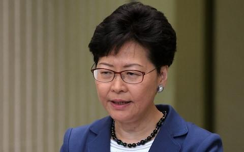 Hong Kong Chief Executive Carrie Lam has refused to back down - Credit: Tyrone Siu/Reuters