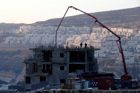 FILE PHOTO: A construction site is seen in the Israeli settlement of Givat Zeev, in the occupied West Bank