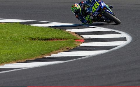 27th August 2017, Silverstone Circuit, Northamptonshire, England; British MotoGP, Race Day; Movistar Yamaha MotoGP MotoGP rider Valentino Rossi on route to third place (Photo by Tim Williams/Action Plus via Getty Images)  - Credit: Tim Williams /Action Plus