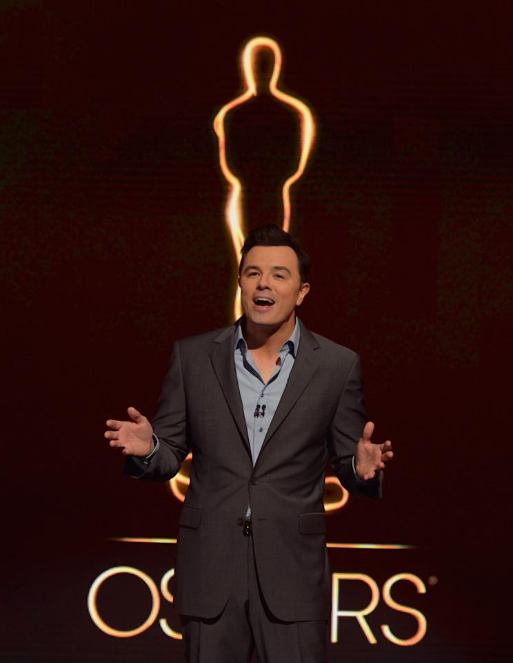 BEVERLY HILLS, CA - JANUARY 10:  Host Seth MacFarlane announces the nominees at the 85th Academy Awards Nominations Announcement at the AMPAS Samuel Goldwyn Theater on January 10, 2013 in Beverly Hills, California.  (Photo by Kevin Winter/Getty Images)
