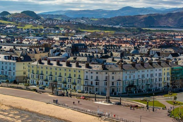 The seafront at Llandudno (Peter Byrne/PA)