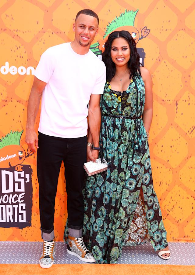 Ayesha and Stephen Curry are expecting their third child any day now. (Photo: Getty Images)