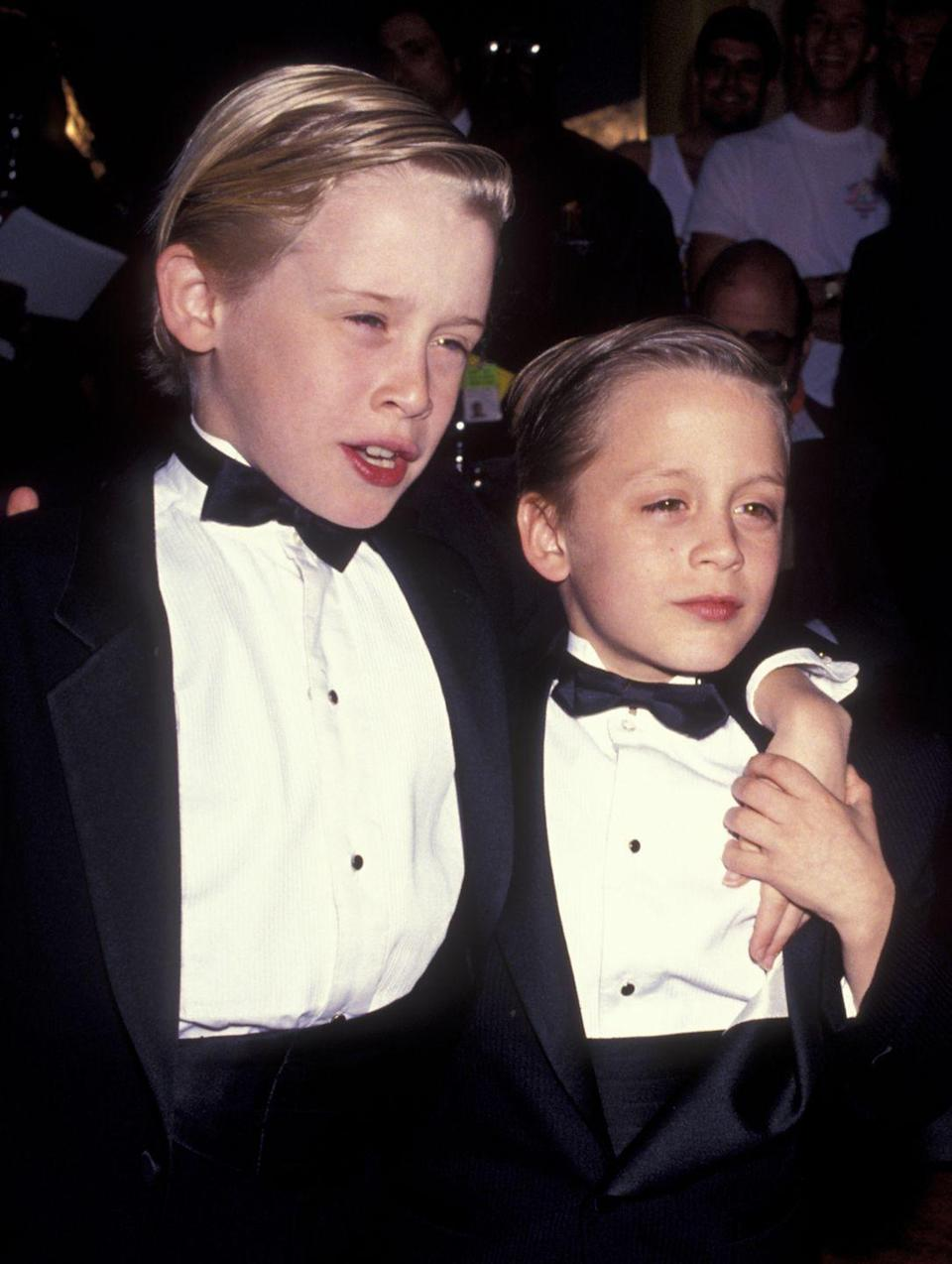 <p>Galella photographed a young Macaulay and Kieran Culkin in Los Angeles, attending the Fifth Annual American Comedy Awards in 1991.</p>