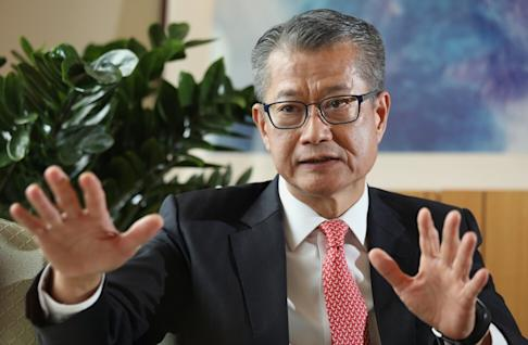 Hong Kong's Financial Secretary Paul Chan Mo-po during an interview at the Central Government Offices, in Tamar on 11 June 2020. Photo: Nora Tam