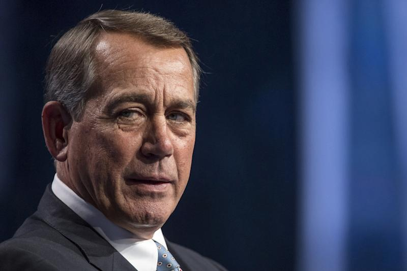 Rep. John Boehner has a lot to say about some of his former colleagues. (Bloomberg via Getty Images)
