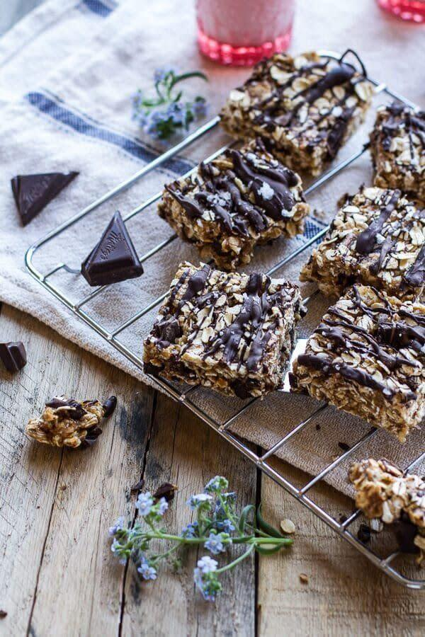 "<a href=""https://www.halfbakedharvest.com/healthy-bake-salted-dark-chocolate-chunk-oatmeal-cookie-bars/"" rel=""nofollow noopener"" target=""_blank"" data-ylk=""slk:Get the recipe for Healthy No-Bake Salted Dark Chocolate Chunk Oatmeal Bars from Half Baked Harvest"" class=""link rapid-noclick-resp""><strong>Get the recipe for Healthy No-Bake Salted Dark Chocolate Chunk Oatmeal Bars from Half Baked Harvest</strong></a>"