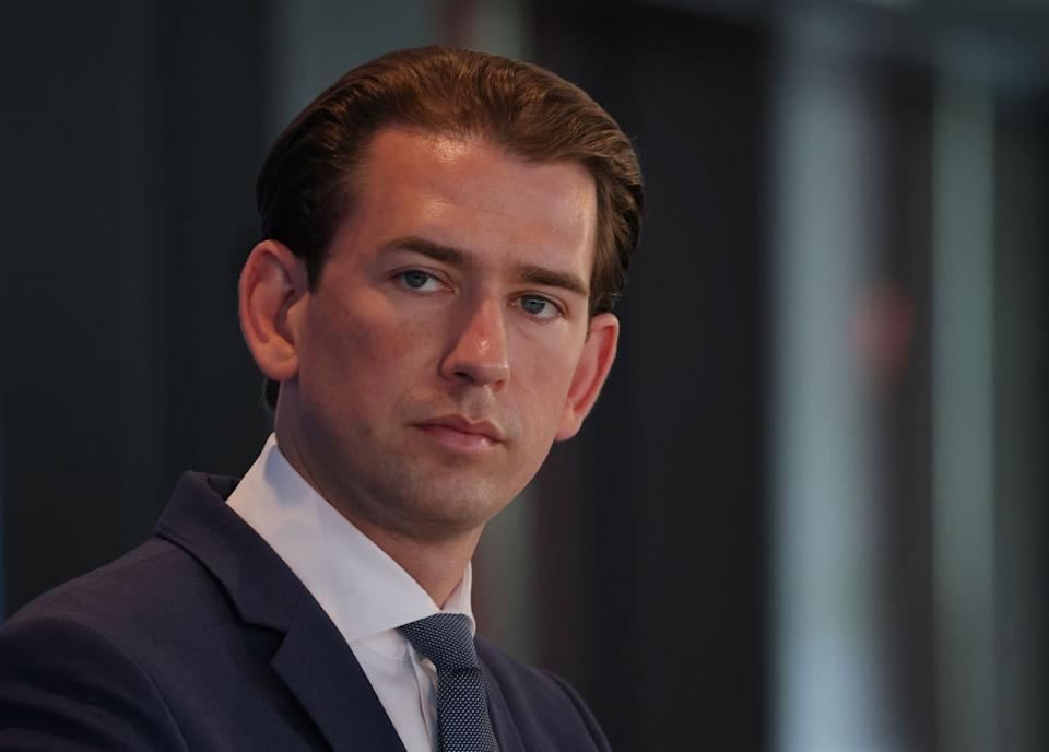 BERLIN, GERMANY - SEPTEMBER 09: Austrian Chancellor Sebastian Kurz attends a gathering of the European People's Party, the group of European Christian conservative parties in the European Parliament, on September 09, 2021 in Berlin, Germany. The EPP is holding a three-day group bureau meeting in Berlin.    (Photo by Sean Gallup/Getty Images)