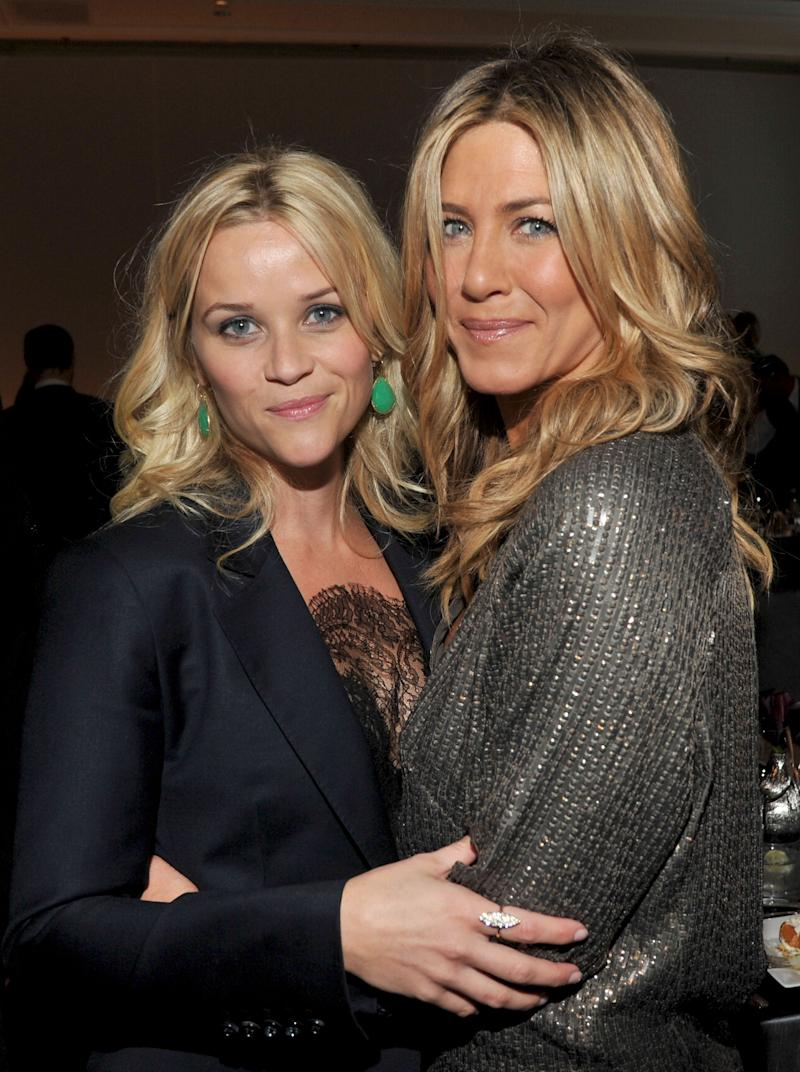 Reese Witherspoon and Jennifer Aniston at ELLE's 18th Annual Women in Hollywood Tribute in 2011 [Photo: Getty]