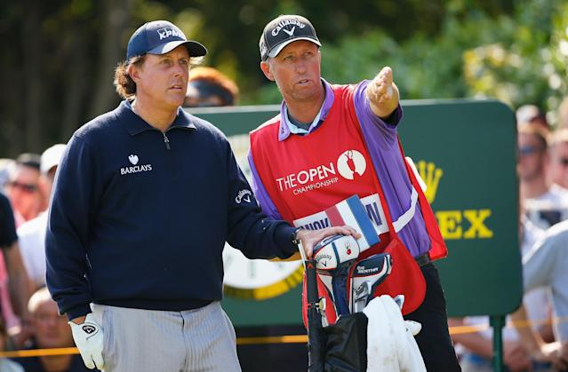 Phil Mickelson's relationship with his caddy in six seconds