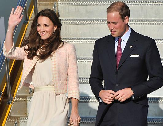 "Prince William and Kate Middleton continued their 11-day North American tour in Prince Edward Island, Canada, the fourth day of the tour. Shown here is the royal couple arriving in Charlottetown, Prince Edward Island on July 3, 2011. Earlier that day, the royal couple was greeted by a fan who wished Kate well in starting a family. Kate, 29, who has not spoken publicly about having children, was overheard saying, ""Yes, I hope to."""