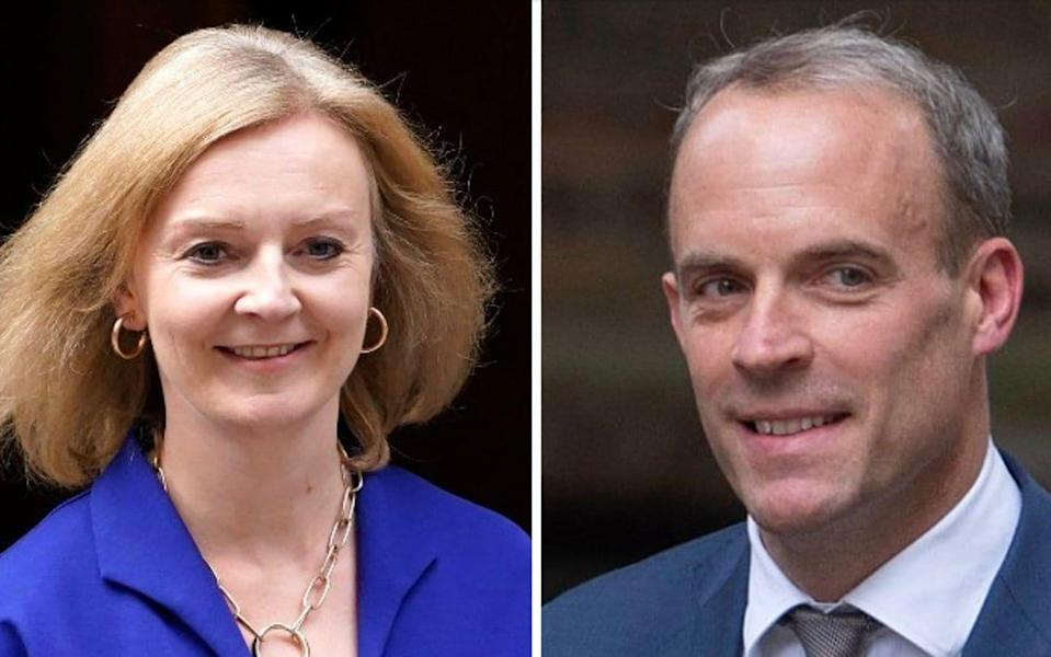 Liz Truss and Dominic Raab both staked a claim to the residence in the wake of this week's reshuffle - AP Photo/Alberto Pezzali