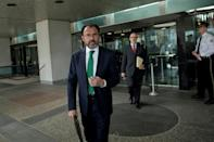 Mexican Foreign Minister Luis Videgaray Caso leaves the US Department of State after a meeting February 8, 2017 in Washington, DC