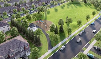 Artists' rendering of the Hunsdeep Rangar Park in Avalon, Orleans. Now under construction, to be completed by mid-summer 2021. (CNW Group/Minto Communities Management Inc.)