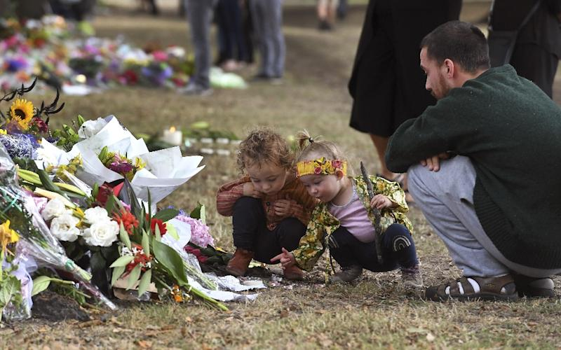 Tipene Newbery said he wants tocreate a more positive environment for his four young children following the shootings (AFP Photo/WILLIAM WEST)