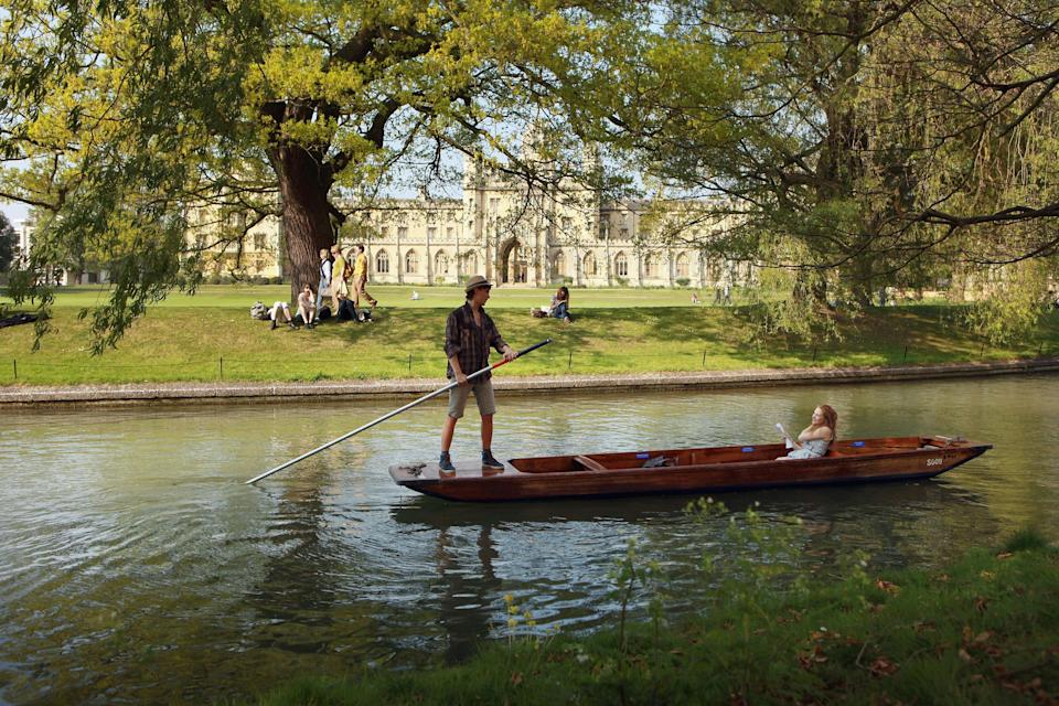 Well endowed: Members of the public punt along the river Cam in front of the colleges of Cambridge University on April 19, 2011 in Cambridge, England. Photo: Oli Scarff/Getty Images