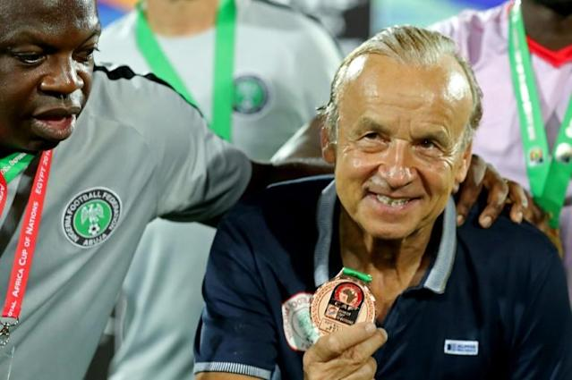 Gernot Rohr led Nigeria to third place at the 2019 Africa Cup of Nations (AFP Photo/Khaled DESOUKI)